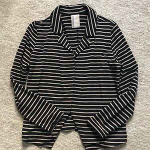 Dolan Black and Beige Stripe Blazer